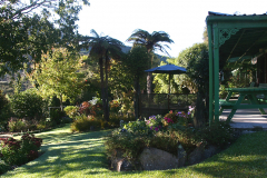 View of the Garden from the Kitchen end of the Lodge