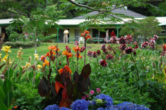 View of the Retreat Centre Building from the Garden in Summer