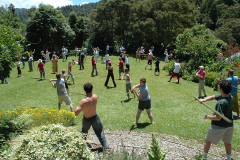 Spiritual Warrior Sword Workshop on the Main Lawn